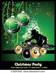 Green Party Flyer Disco Party Flyer Background For Christmas Clipart