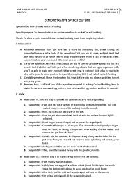 Demonstration Speech Outline Demonstrative Speech Examples Pdf Examples