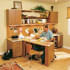 Build a do-it-yourself compact home office centre with a desktop and  swing-out work area, plenty of drawers and storage, open bookshelves, a  large bulletin ...