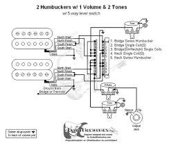 humbuckers 5 way lever switch 1 volume 2 tones Humbucker 2 Tone 1 Volume Wiring Diagram 2 humbuckers 5 way lever switch 1 volume 2 tones 2 humbucker 1 volume 1 tone wiring diagram