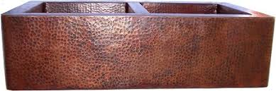 hammered copper farmhouse sink. Double Well Farmhouse Hammered Copper Sink Close-Up