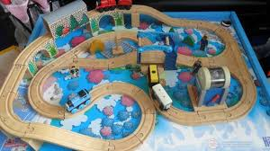 thomas the tank learning curve wooden train table train set with trains