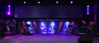Church Stage Design Ideas cross energy
