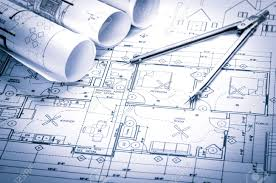 architecture blueprints wallpaper. Brilliant Wallpaper Rolls Of Architecture Blueprints And House Plans On The Table Drawing  Compass Stock Photo With Architecture Blueprints Wallpaper