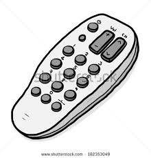 tv remote clipart no background. tv remote / cartoon vector and illustration, grayscale, hand drawn style, isolated on tv clipart no background o