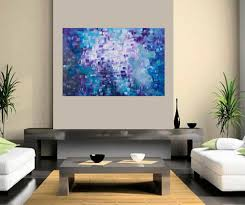 dissolving by qiqigallery 36 x24 stretched canvas original large blue purple painting abstract painting modern abstract large wall art