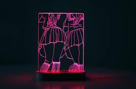 Anime Led Lamp Bedside 3d Bedroom Lamp Decorative Lights Etsy