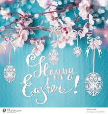happy easter easter greeting card with