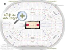 Chicago United Center Seat Numbers Detailed Seating Plan