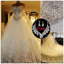 <b>Cathedral Train</b> A-Line Wedding Dresses | Wedding Dresses ...