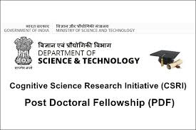 Cognitive Science Research Initiative (Csri) Post Doctoral ...