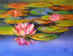 water lilies 17 painting by artist swati kale oil canvas