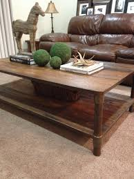 ... Coffee Table, Cool Brown Rectangle Classic Wood Restoration Hardware  Coffee Table With Storage Designs: ...