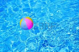 Perfect Swimming Pool Beach Ball Background Multicolored In And Models Design