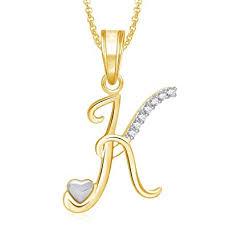 K N Air Filter Size Chart Meenaz Jewellery Gold Plated K Letter Pendant For Girls Women Men Unisex Alphabet Heart Pendant For Women In American Diamond Jewellery Crystal Set