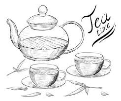 teacup and teapot drawing. Interesting Teapot Hand Draw Vector Illustration Tea Time Tea Cup Teapot Stock Throughout Teacup And Teapot Drawing 123RFcom