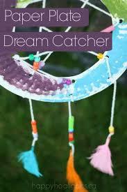 Dream Catcher Craft For Preschoolers Delectable Paper Plate Dream Catcher Craft Happy Hooligans