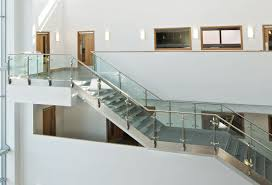 ... Stainless steel railing / glass panel / indoor / for mezzanines  QUICKRAIL Q Railing Europe ...