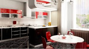 Nice Kitchen Red And White Nice Kitchen Interior Wallpaper