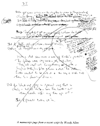paris review woody allen the art of humor no  view manuscript