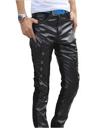 men leather jeans