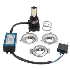 <b>Super</b> bright Headlight Bulb <b>LED</b> Motorcycle <b>1x</b> H4 BA20D DC 6V ...