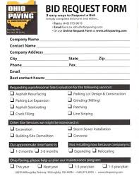 Print A Bid Request Form For Your Organization's Parking Lot Paving ...