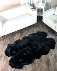 sheepskin rug photo 9 of area black four pelt ft nice costco collection genuine sheeps