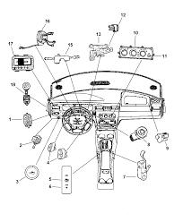 2004 chrysler sebring sedan convertible switches instrument panel console
