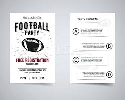 Football Party Back And Front Flyer Template Design Program