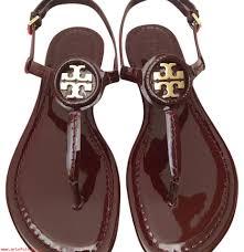 fine workmanship womens shoes tory burch oxblood 6 5m dillan soft patent leather sandals 22036420