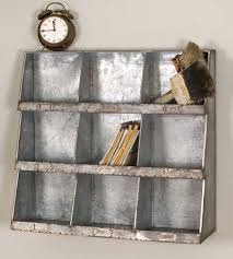 office storage cubbies. country farm house vintage style galvanized metal 9 hole wall cubby office storage cubbies g