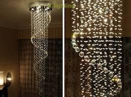 chic drop pendant light h220cm modern crystal spiral pendant light rain drop chandelier elegant