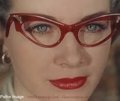 s who wear gles 1950s eye makeup