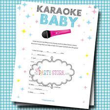 Girl or Boy Baby Shower Games, Fun Karaoke Baby Shower Game, Unique ...