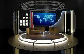 tv studio furniture. Brilliant Studio Virtual TV Studio Chat Set 19 3D Model For Tv Furniture T