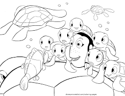 Finding Nemo Characters Coloring Pages Wumingme