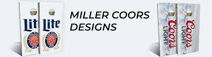 Coors Light Cornhole Amazon Com Slick Woodys Cornhole Co Miller Coors Designs