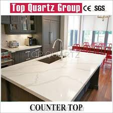 White stone kitchen countertops White Cabinet Bestselling Calacatta Quartz Countertop Artificial White Quartz Kitchen Countertops Tovariboard Bestselling Calacatta Quartz Countertop Artificial White Quartz