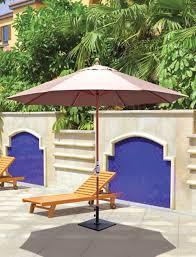 galtech 11 teak wood crank lift non tilt patio umbrella with sunbrella canopy