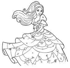 Disegni Da Colorare Bellissimo Barbie Con Vestito F6b7migyyv