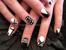 Eye Candy Nails & Training - Acrylic overlay with black and white ...