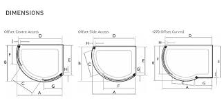 Brilliant Curved Shower Enclosures Uk Dimensions Inside Design Decorating