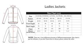 Womens Blazer Size Chart Santic Size Guide