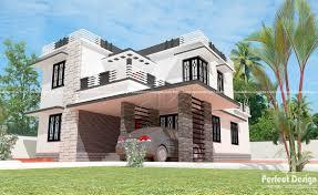 Kerala Flat Roof House Design 4 Bedrooms Flat Roof House Kerala Home Design