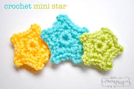 Crochet Star Pattern Adorable Crochet Mini Star Applique Free Pattern My Merry Messy Life