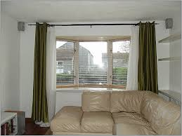 good window curtain of how to hang bay window curtain rods awesome ideas for install bay