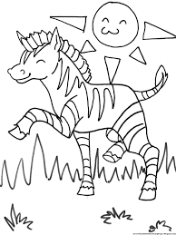 Small Picture Coloring Pages Zebra Without Stripes For Adults Preschoolers