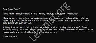 retirement resignation letter example forumslearnistorg resignation retirement letter