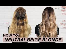 Neutral Hair Color Chart How To Neutral Beige Blonde Hair Kenra Color Youtube